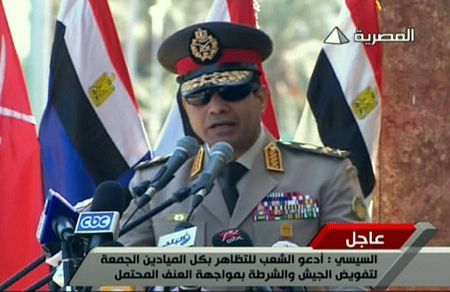 Egyptian military head General  Abdel Fatah al-Sissi