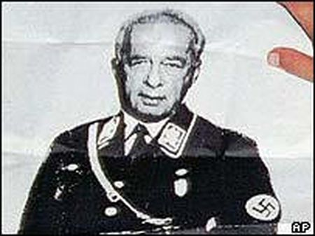 Poster by agent-provocateur Avishai Raviv showing Yitzhak Rabin in a Nazi uniform