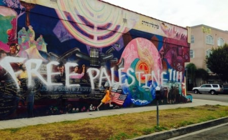 Graffiti defaces Jewish-themed mural in Los Angeles