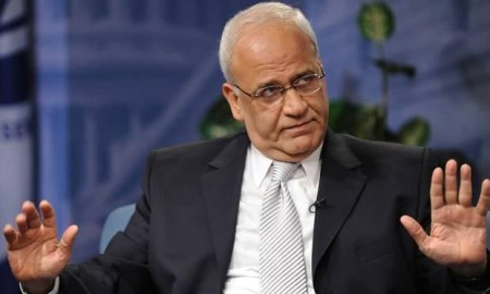 Palestinian negotiator and teller of tall tales Saeb Erekat